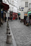 Tourists in Montmartre historic district Stock Photos