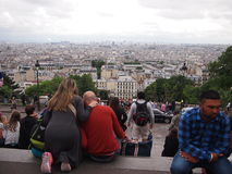 Tourists at Montmartre Stock Photography