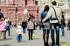 Tourists in Moscow Stock Photos