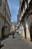 Tourists in Moscow alley Liberec - Czech Republic Royalty Free Stock Photography