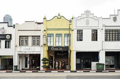 Tourists on Mosque Street in Singapore Stock Image
