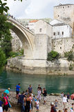 Tourists in Mostar Stock Images