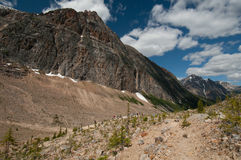 Tourists at Mount Edith Cavell, Jasper, Alberta. Canada royalty free stock photography
