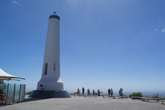 Tourists at Mount Lofty Summit Obilisk, The Flinders Column Royalty Free Stock Images