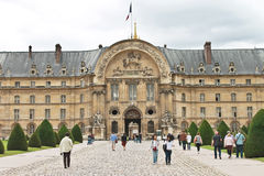 Tourists in the museum complex Les Invalides Stock Photo