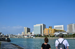 Tourists in Naha City, Okinawa Stock Photos