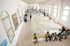 Tourists in National Museum Carthage Royalty Free Stock Images