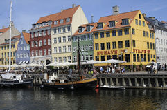 TOURISTS ND SHOPPERS IN COPENHAGEN DENMARK Royalty Free Stock Photo