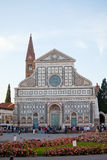 Tourists near Basilica di Santa Maria Novella. Stock Photo