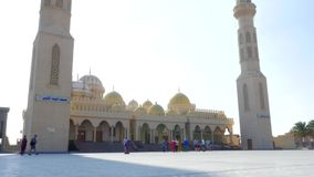 Tourists near the Mosque stock video footage