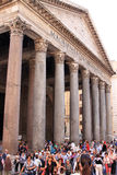 Tourists near the Pantheon in Rome, Italy Stock Image