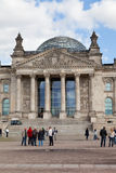 Tourists near Reichstag Stock Images
