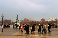 Tourists near to Schonbrunn Palace Stock Photos