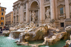 Tourists near the Trevi Fountain in Rome, Italy Stock Image
