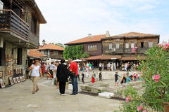 Tourists in Nessebar Stock Photography