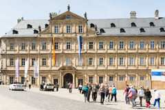 Tourists at Neue Residenz in Bamberg Royalty Free Stock Photography