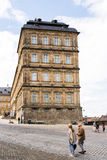 Tourists at Neue Residenz in Bamberg Royalty Free Stock Image