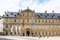 Tourists at Neue Residenz in Bamberg Stock Images