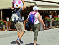 Tourists Stock Image