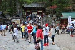 Tourists in Nikko, Japan Royalty Free Stock Image