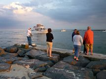 Tourists at the North Jetty Stock Images