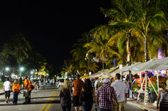 Tourists on ocean drive Royalty Free Stock Photography