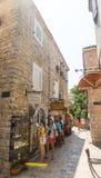 Tourists in old Budva, Montenegro Royalty Free Stock Photo