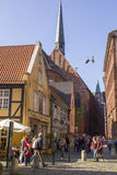 Tourists in Old town of Hanseatic city Bremen,Germany Stock Photography