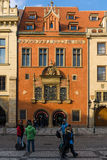 Tourists on the Old Town Square in the heart of Old Town of the Prague. Stock Photo