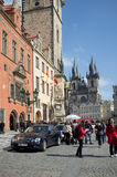Tourists in the Old Town Square in Prague Royalty Free Stock Photography