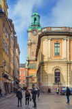 Tourists in Old Town Stockholm city, Sweden Stock Photos