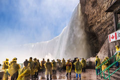 Free Tourists On Observation Deck In Niagara Falls Royalty Free Stock Image - 35994676