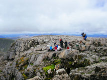 Free Tourists On Top Of Ben Nevis Mountain Stock Image - 78763761