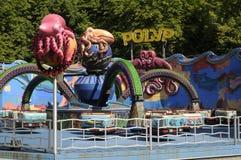 TOURISTS AT OPEN AIR AMUSEMENT PARK BAKKEN Royalty Free Stock Photo