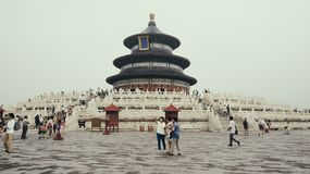 Tourists outside temple, Beijing, China