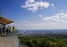 Tourists overlooking Vienna Royalty Free Stock Images