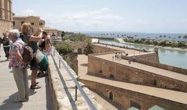Tourists in Palma de mallorca touristic main area Royalty Free Stock Photo