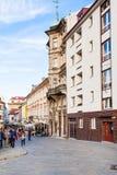 Tourists on Panska street in old Town Bratislava Stock Photography