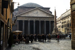 Tourists at the Pantheon, Rome Stock Photo