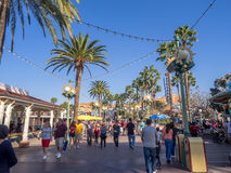Tourists at Paradise Pier, Disney California Adventure Park Stock Image