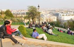 Tourists in Paris Stock Photo