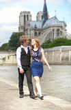 Tourists in Paris Royalty Free Stock Photography