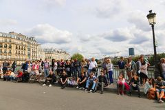 Tourists in Paris Royalty Free Stock Images
