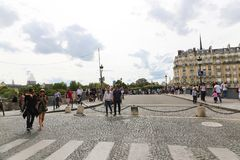 Tourists in Paris Stock Photography