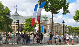 Tourists in Paris Royalty Free Stock Image