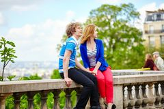 Tourists in Paris, on the Montmartre hill Royalty Free Stock Photography
