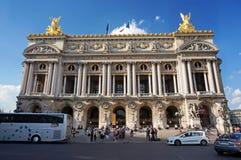 Tourists at Paris Opera House Royalty Free Stock Photos