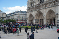 Tourists in Paris Royalty Free Stock Photo