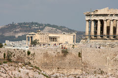 Tourists at parthenon Stock Photography