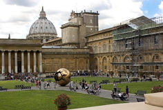 Tourists in the patio of Vatican Stock Images